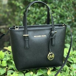 NWT Michael Kors Jet Set Travel XS Tote in Black